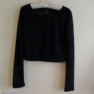 FOREVER 21Cute Black Cropped Sweater